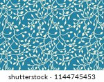 hand drawn ivy and vines in... | Shutterstock . vector #1144745453