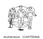 sport and activity line drawing ... | Shutterstock .eps vector #1144750466