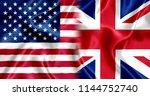 uk and us flag silk | Shutterstock . vector #1144752740