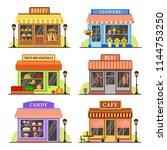 flat store. modern shop ... | Shutterstock .eps vector #1144753250
