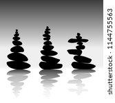 relax zen stones balanced.... | Shutterstock .eps vector #1144755563