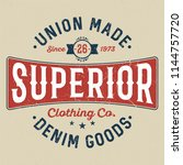 superior denim goods   tee... | Shutterstock .eps vector #1144757720