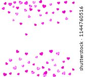 wedding confetti with pink... | Shutterstock .eps vector #1144760516