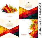 set of four colorful abstract... | Shutterstock .eps vector #1144762613