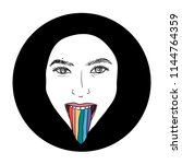 hand drawn lgbt girl or woman...   Shutterstock .eps vector #1144764359