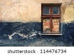 grunge wall of the old house.... | Shutterstock . vector #114476734