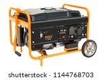 gasoline generator with frame... | Shutterstock . vector #1144768703