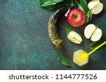 background rosh hashanah ... | Shutterstock . vector #1144777526