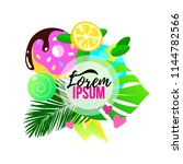 colorful tropical banner  fresh ... | Shutterstock .eps vector #1144782566