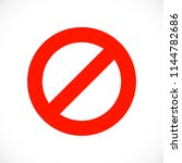 warning red symbol template.... | Shutterstock .eps vector #1144782686