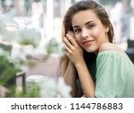 beauty smiling happy model with ... | Shutterstock . vector #1144786883