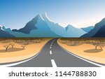 scenic mountain landscape with...   Shutterstock .eps vector #1144788830