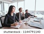 businessmen and businesswoman... | Shutterstock . vector #1144791140