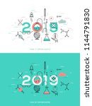 infographic concept  2018  ... | Shutterstock .eps vector #1144791830
