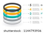 infographic label design with... | Shutterstock .eps vector #1144793936