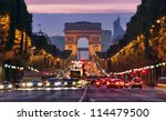 paris  champs elysees at night | Shutterstock . vector #114479500