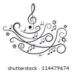 musical notes. ornament with...