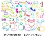 arrow icons vector arrowheads... | Shutterstock .eps vector #1144797530