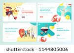 set of web page design... | Shutterstock .eps vector #1144805006