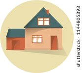house with garage flat... | Shutterstock .eps vector #1144805393