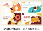 set of web page design... | Shutterstock .eps vector #1144805513