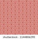 japanese pattern. vector. | Shutterstock .eps vector #1144806290