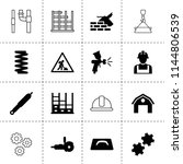 set of 16 industrial filled and ...   Shutterstock .eps vector #1144806539
