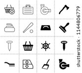 set of 16 handle filled and...   Shutterstock .eps vector #1144806779