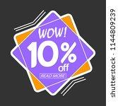 sale tag  banner design... | Shutterstock .eps vector #1144809239