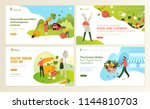 set of web page design... | Shutterstock .eps vector #1144810703