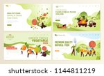 set of web page design... | Shutterstock .eps vector #1144811219