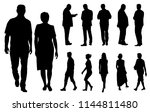 vector silhouettes men and... | Shutterstock .eps vector #1144811480
