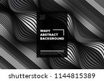monochrome abstract background... | Shutterstock .eps vector #1144815389