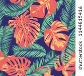 summer exotic floral tropical... | Shutterstock .eps vector #1144815416