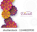diwali festival holiday design... | Shutterstock .eps vector #1144820930