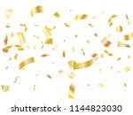 gold yellow on white glossy... | Shutterstock .eps vector #1144823030