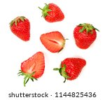strawberries decorated with... | Shutterstock . vector #1144825436