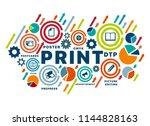 banner printing vector banner... | Shutterstock .eps vector #1144828163