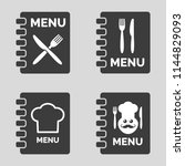 menu icons on grey background.... | Shutterstock .eps vector #1144829093