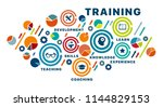 banner training concept....   Shutterstock .eps vector #1144829153