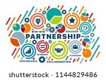 partnership concept. chart with ... | Shutterstock .eps vector #1144829486