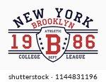 brooklyn  new york slogan... | Shutterstock .eps vector #1144831196