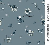 seamless floral pattern with... | Shutterstock .eps vector #1144833266
