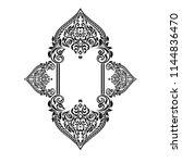 vintage baroque frame scroll...   Shutterstock .eps vector #1144836470
