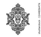 vintage baroque frame scroll...   Shutterstock .eps vector #1144836476