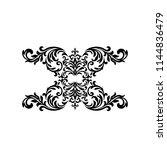 vintage baroque frame scroll...   Shutterstock .eps vector #1144836479