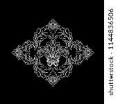 vintage baroque frame scroll...   Shutterstock .eps vector #1144836506