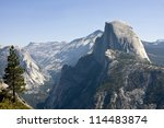 Half Dome Mountain In Yosemite...
