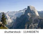 Half Dome Mountain In Yosemite...