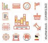 set of 13 simple editable icons ... | Shutterstock .eps vector #1144841363